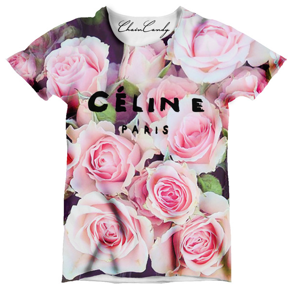 Designer Rose Floral Oversized T-Shirt - Feelin Peachy
