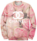 Oversized Rose Allover Print Sweatshirt - Feelin Peachy