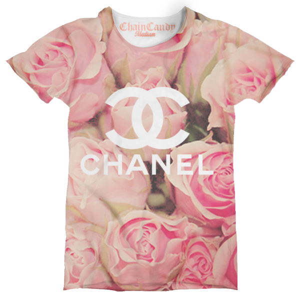 Floral Designer Print T Shirt - Feelin Peachy