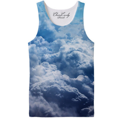 Allover Print Sky Clouds Relaxed Tank top