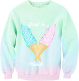 Don't Be A  Ice Cream Oversized Sweatshirt - Feelin Peachy