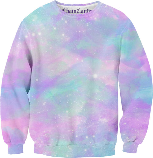 Dusted Pastel Galaxy Allover Printed Sweatshirt - Feelin Peachy