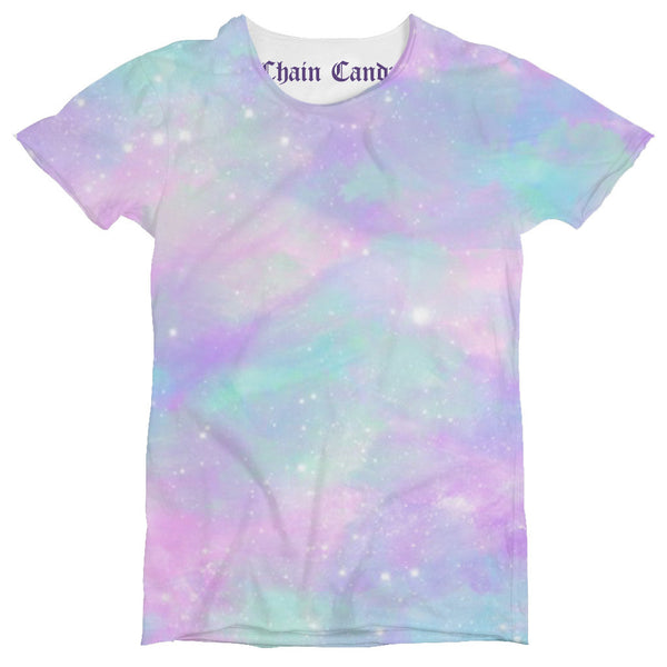 Dusted Pastel Galaxy Unisex Printed T shirt - Feelin Peachy