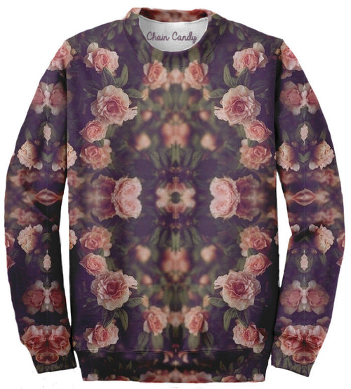 Floral Allover print Sweatshirt - Feelin Peachy
