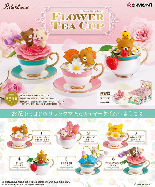 Add on Rilakkuma Flower Tea Cup FOR DECO CASE- Lyssa's Miniatures - Feelin Peachy