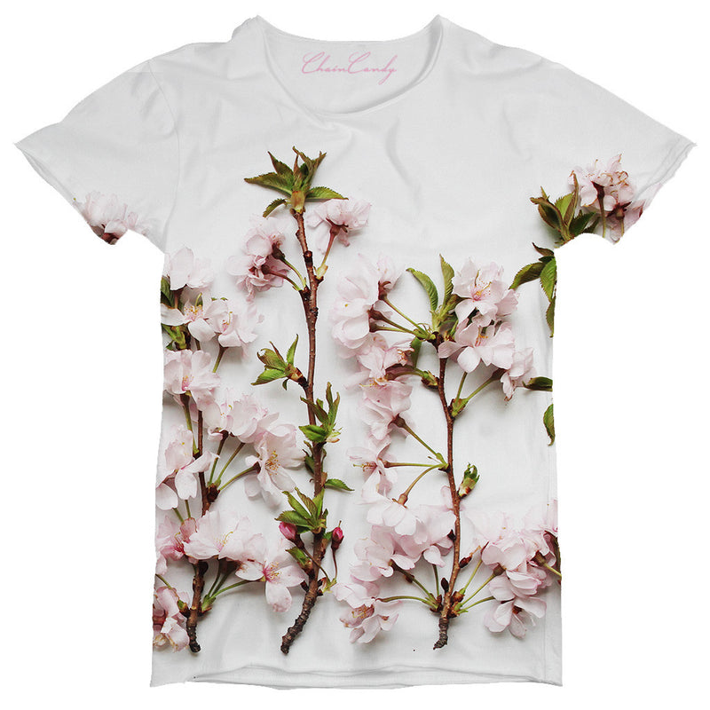 Peach Blossoms Printed T Shirt