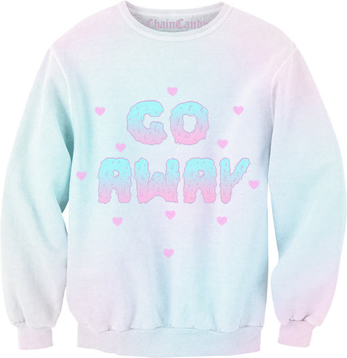 Go Away Pastel Ombre Sweatshirt - Feelin Peachy
