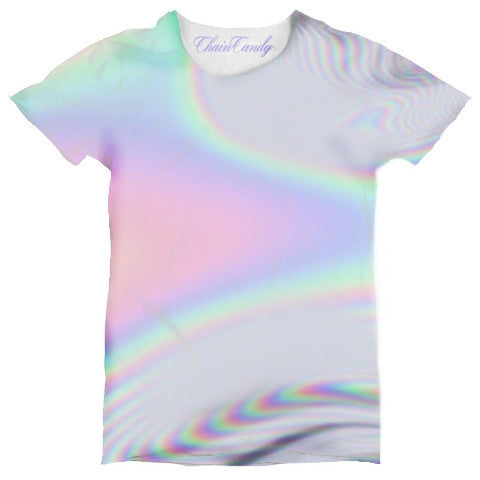 Hologram Printed Relaxed T shirt - Feelin Peachy