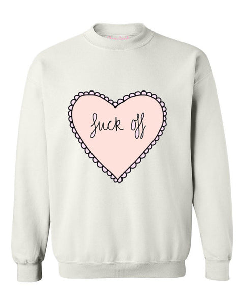 Oversized Hate heart Sweatshirt - Feelin Peachy