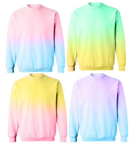 Allover Printed Pastel Sprinkles Party Sweatshirt