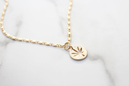 Mary Jane Pendant 18K Gold Plated Necklace