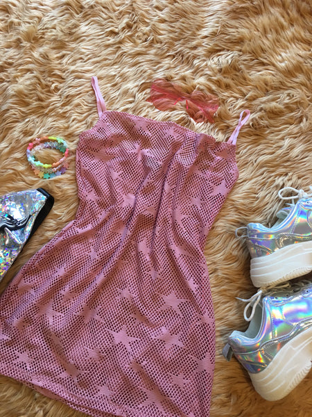Holographic Crop Top and Circle Skirt Set