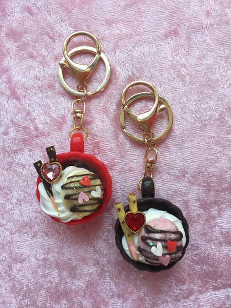 Miniature Dessert Drinks Key Charms - Feelin Peachy