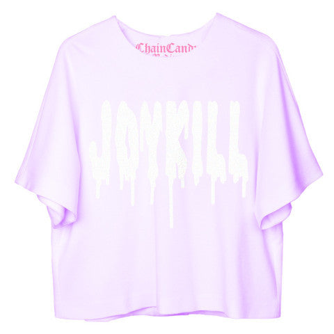 JOYKILL Pastel Purple Oversized Cropped T-Shirt - Feelin Peachy