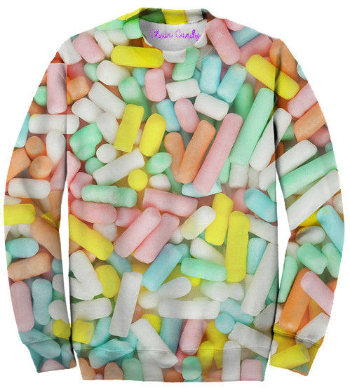 Allover Printed Pastel Sprinkles Party Sweatshirt - Feelin Peachy