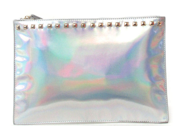 Holographic Studded Clutch Wristlet - Feelin Peachy