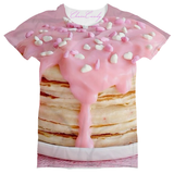ChainCandy Allover Pink icing Pancake Print t shirt - Feelin Peachy