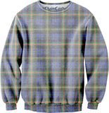 Plaid Printed Oversized Fleece Sweatshirt
