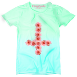 Ombre Rose Cross T shirt