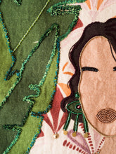 Load image into Gallery viewer, Girl In The Green Earrings Tapestry