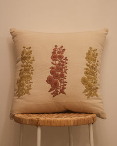 Attirail Bohemian Fleur Embroidered Cushion Flower Floral
