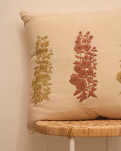 Load image into Gallery viewer, Attirail Bohemian Fleur Embroidered Cushion Flower Floral