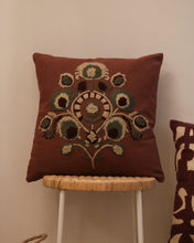 Load image into Gallery viewer, Attirail Bohemian Embroidery Boho Blooms Cushion Wildflower
