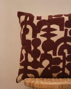 Attirail Bohemian Abstract Mauve Cushion