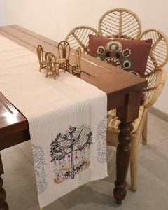 Attirail Bohemian Willow Tree Embroidered Table Runner
