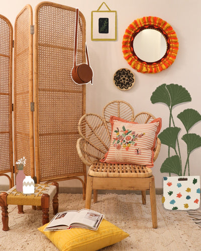 Attirail Bohemian Flower Child Cane Chair