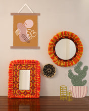Load image into Gallery viewer, Attirail Bohemian Wall Decor Mirror Boho Fiery Muse Round  Mirror