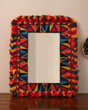 Load image into Gallery viewer, Attirail Bohemian Wall Decor Mirror Boho Vivid Muse Rectangle  Mirror