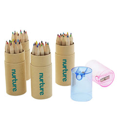 Colour Pencil And Pencil Sharpener Set