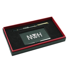 Metal Name Card Holder And Pen Set