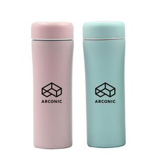Candy-Coloured Stainless Steel Drinking Bottle With Strainer