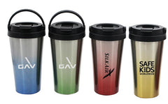 Water Bottle with Carrying Handle and Flip-Top Lid