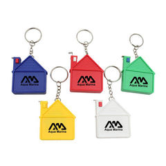 House Keychain With Tape Measure