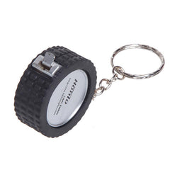Tyre Keychain With Tape Measure