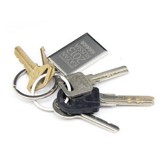 Metal Keychain With Rectangle Design