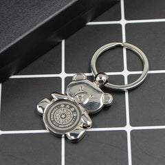 Zinc Alloy Teddy Bear Keychain