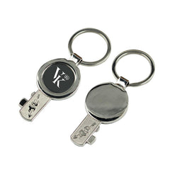 Metal Keychain With Key Design