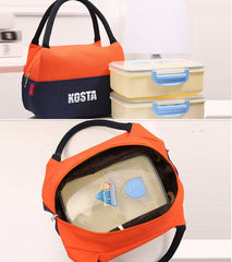 Dual-Coloured Waterproof Canvas Lunch Bag