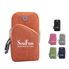 Outdoor Sports Arm Bag with Headphone Hole