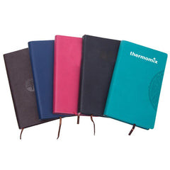 Business Notebook With Embossed Flower Pattern On Pu Leather Cover