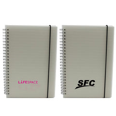 A5 Notebook With Clear Cover And Lined Pages