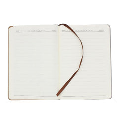 Hardcover Notebook with Pen and Card Holder on Cover