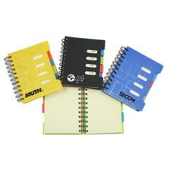 Office Spiral-Bound Notebook With Colourful Index Dividers