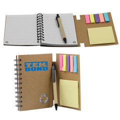 Multifunctional Notepad Set With Kraft Paper Cover