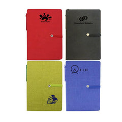 Notebook Set With Pu Leather Cover And Elastic Band Closure