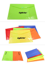 Coloured Envelope-Style A4 Document Holder With Snap Fastener